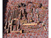 Vintage Woodworking Tools Drills Bits Gauge