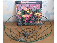 14 inch Wire Hanging Basket with Chains + Guide to Hanging Baskets & Wall Containers Book