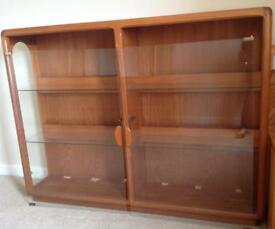 Solid Teak Display Cabinet