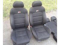 MK1 SEAT LEON CUPRA R FRONT AND REAR SEATS INTERIOR TOLEDO VW MK4 GOLF BORA