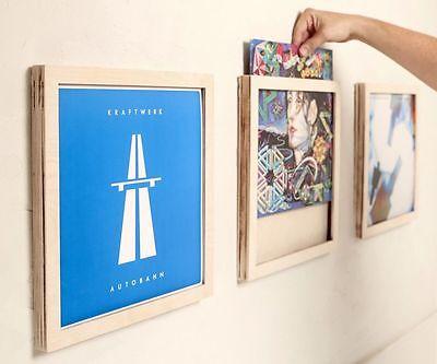 Schallplatten Bilderrahmen Holz Vinyl Frame LP CNC NEU Deko Ostern 3x