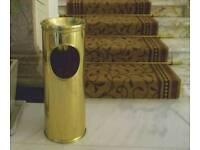 Posh gold polished waste paper bin reception area salon area office area