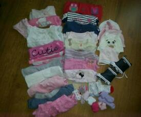 Cute bundle of girls clothes up to 3 months majority from NEXT & Mothercare