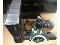250gb xbox 360 with kinect & games