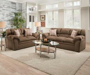 Price Reduced! Venture Chocolate Sofa and Loveseat