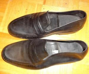 Mens Large Galoshes by TOTES - NEW - Natural Rubber - Made in USA America black