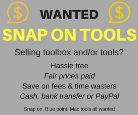 BUYING Snap on tools & tool box lots