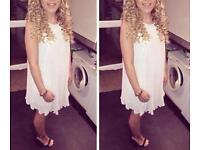 Cream frilly dress