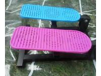 Exercise stepper for children, mostly young female.