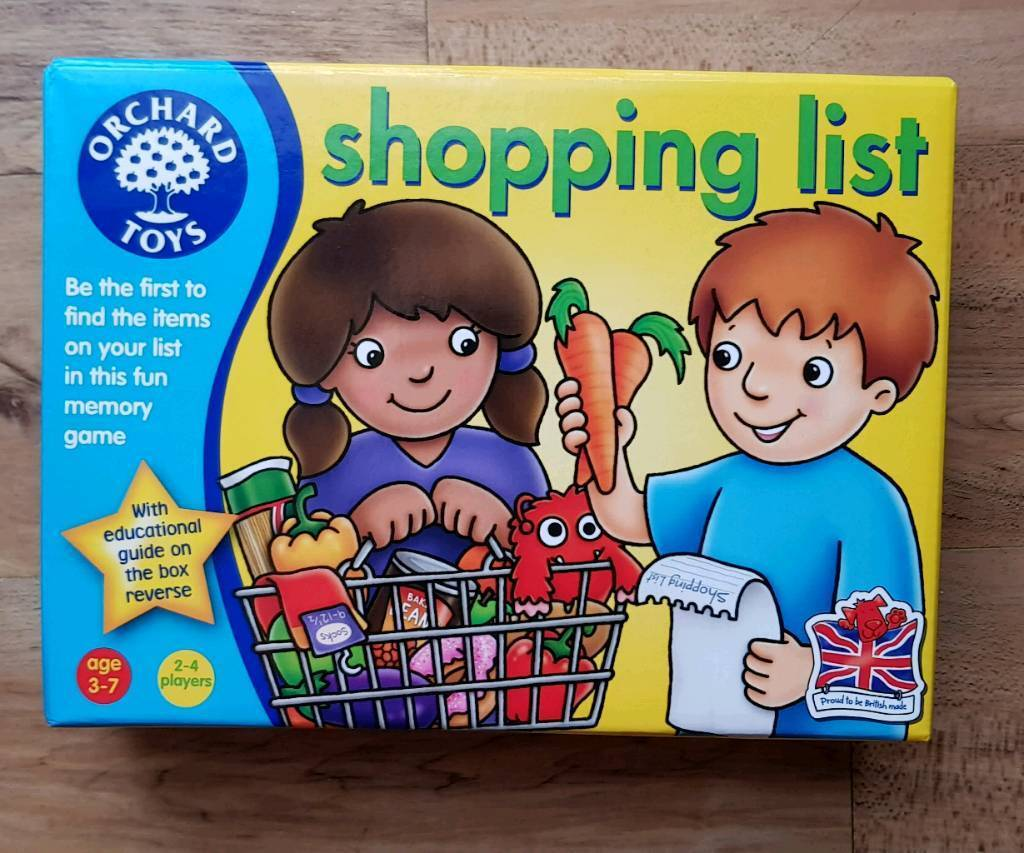 Orchard Toys Shopping List Kids Game Fun and Educational ...