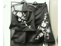 Black embroidered party two piece