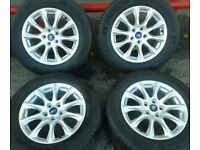 """GENUINE FORD MK5 MONDEO FOCUS C-MAX 16"""" ALLOYS & MICHELIN 215/60/16 TYRES DS7C-1007-K2A 5X108"""