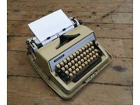 Vintage Adler Gabriele 25 Working Retro Portable Typewriter