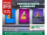 **Highest Quality Printed Poster** Call Us Today -01494442211