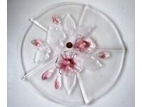 Hand-painted Glass Cake Tray made in Germany in original box