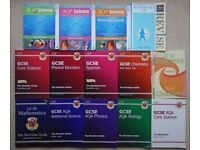 GCSE Bundle. Maths Physics Chemistry Biology Science Spanish PE AQA CGP Letts