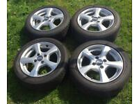 OZ WHEELS MSW ALLOY WHEELS And TYRES 15""