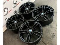 "BRAND NEW 19"" BMW M4 STYLE ALLOY WHEELS *AVAILABLE WITH TYRES* - GLOSS BLACK"
