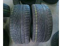 2x 255/40/19 PIRELLI SOTTO ZERO, 5MM TREAD,MATCHING PAIRS, EXCELLENT PARTWORN TYRES, FREE FITTING