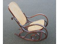 A 'THONET' Style Bentwood Rocking Chair
