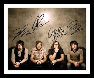 KINGS OF LEON AUTOGRAPHED SIGNED & FRAMED PP POSTER PHOTO 2