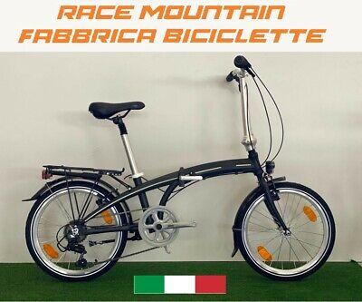 Bici Race Alluminio Pieghevole Folding 20, Unisex Adulto, Shimano 7V
