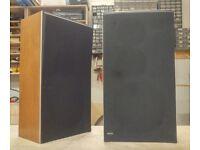 Bang & Olufsen Beovox S35 Speakers in Teak. B&O