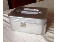 Large silver vanity box -new