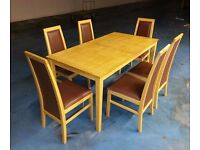 dining table + 6 chairs (item 5)