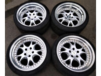 R18 RH ZW3 Alloys * Staggered * 9.5J&10.5J * Deep Dish BMW AUDI VW