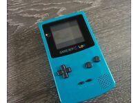 Nintendo Gameboy Colour Turquoise with Mario Tennis