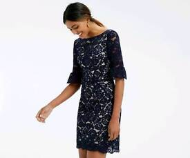 Oasis navy lace dress