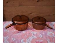 Vision Corning set of 2 Pans retro vintage