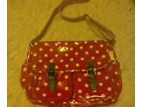 Red and white spotty satchel USED