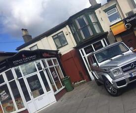 Takeaway /30 seater restaurant +2 bed flat to let East Yorkshire Bridlington