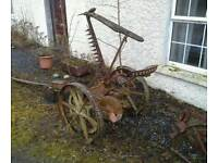 Vintage horse drawn mower