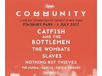 2x Community Festival Tickets - Finsbury Park London