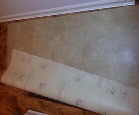 Luxury Vinyl Flooring Remnants, 4.5mm Thick, Tarkett Rock Snow Beige