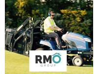 Football pitch grass cut
