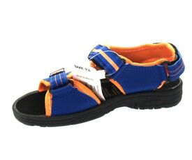 Job lot of children's navy and orange beach sandals