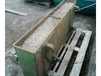 Tractor weight block for loader fitted with euro brackets