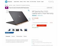 HP Spectre Pro 13 G1 (13.3 inch) Laptop