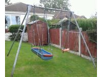Giant Swing Frame with Swing Seat, rings and Pirate Boat