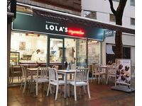 WAREHOUSE ASSISTANT and MAINTENANCE SUPPORT needed at LOLA'S CUPCAKES