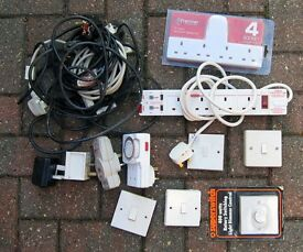 Various Electric sockets, plugs and extensions