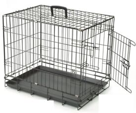 Medium Dog Cage with Handle + 2 Doors (60x45x53cm)