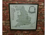 Stunning Antique map of England & Wales French c1793 CHRISTMAS GIFT