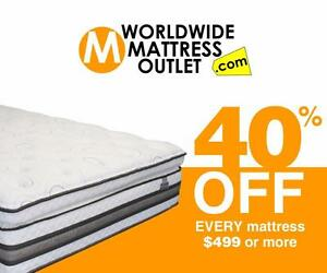 40% off EVERY MATTRESS $499 and over!!!