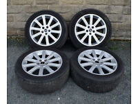 """20"""" Genuine Range Rover Autobiography alloy wheels tyres 5x120 Discovery 3 4"""