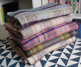 5 x Wool Picnic/Wedding/Rug/Blanket - 100% Wool British Made Tweedmill